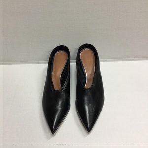 Leather slip on shoe